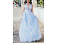 Floral ball gown festive/ bridesmaid summer dress size 8