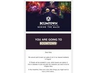 Boomtown Fair Ticket: CH 9 - Behind The Mask (Weekend + Camping Pass)