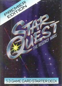 Star Quest The Regency Wars Premier Edition CCG's 53 Game Card Starter Deck