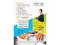Self Assessment - TAX Return, CIS Return/Refund, VAT, PAYE, Company Accounts, Corporation Tax