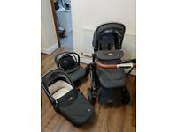 Silver cross wave travel system, isofix car base, slate colour