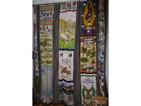 Bespoke made door curtain. Vintage fabrics. Lined. Unique.