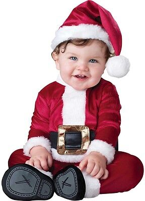 Baby Boys Girls Santa Claus Father Christmas Fancy Dress Costume Outfit 0-24mths