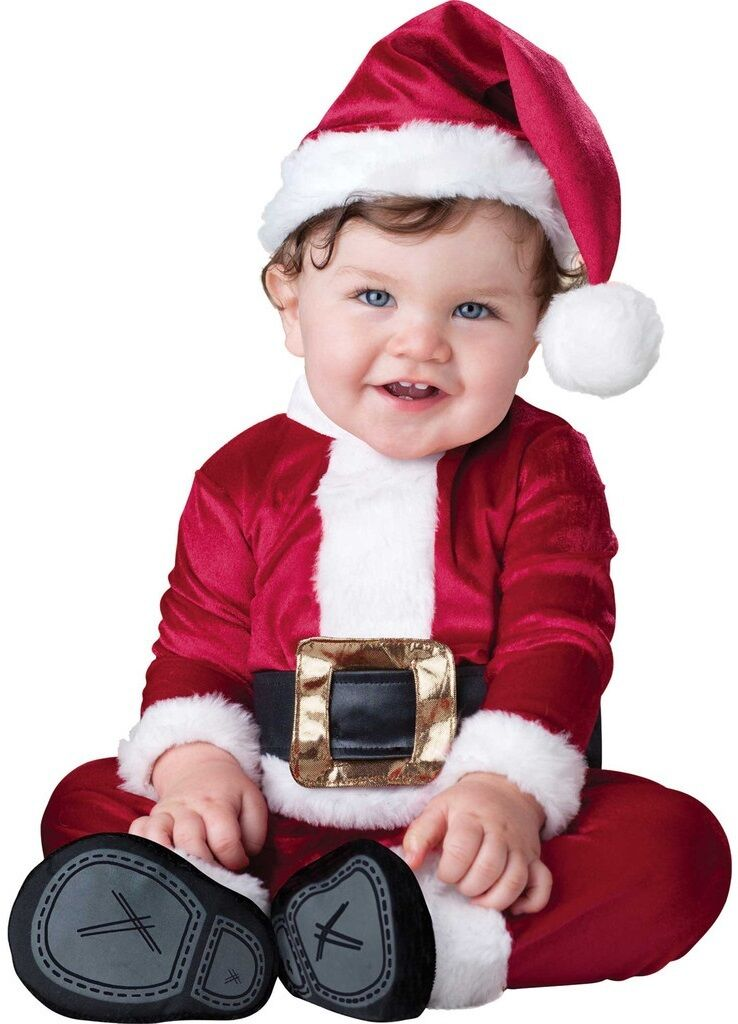 Baby Boys Girls Santa Claus Father Christmas Fancy Dress Costume Outfit  0-24mths - Baby Boys Girls Santa Claus Father Christmas Fancy Dress Costume