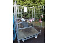Extra wide folding cage trolley