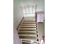 Delivery available, Girls Pink Single Bed Frame, (have 2 similar)