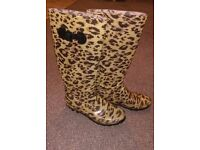Animal Print Wellington Boots. Size 6. - Hounslow TW3