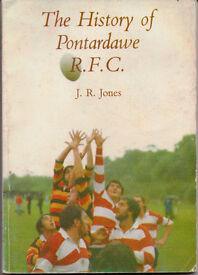 THE HISTORY OF PONTARDAWE R.F.C. by J.R. JONES, paperback, £15. Xmas present????