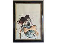 Beautiful Framed and Signed Watercolour / Ink Artwork
