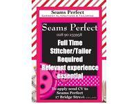 Stitcher Tailor Dressmaker Required