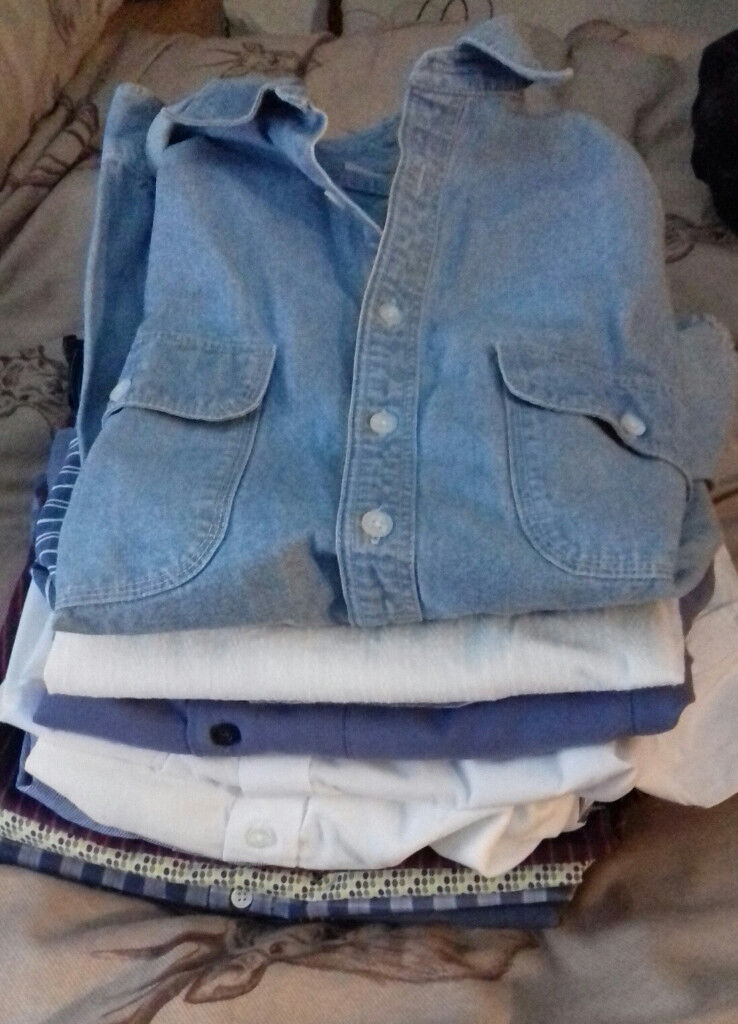 MEN'S EXTRA LARGE CASUAL SHIRTS (16 IN TOTAL) NEXT NEW LOOK GEORGE