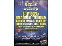 2 x tickets for Let's Rock Scotland 23/6/18