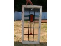 1930's Pair of Stained Glass Windows for sale