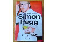 """Simon Pegg """" Nerd do well """" hard back book."""