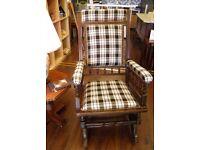 Antique Platform American Rocking Chair - WE CAN DELIVER