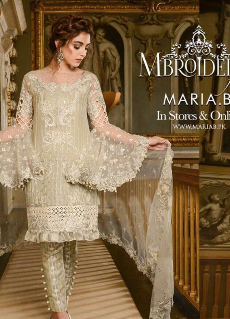 a64690e41 Maria B stitched 2018 evening pret wear