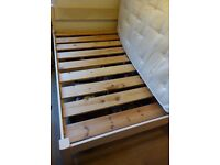 Shabby Chic Warren Evans Summer double solid wooden bed frame and mattress