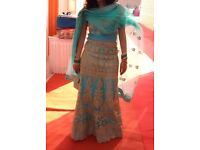 Beautiful turquoise lengha - open to offers - free accessories
