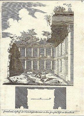 Antique engraving, Temples zu Baalbeck P XX