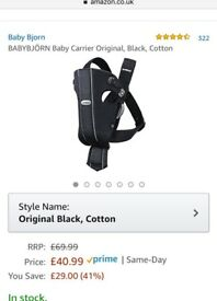 BabyBjorn baby carrier, BLACK