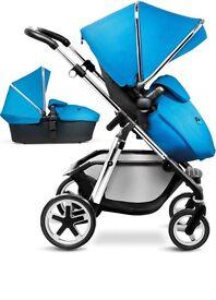 Silver cross pioneer blue car seat +extras