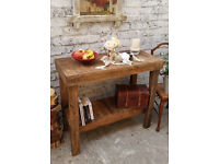 Shabby Chic Rusty Hand Made From Reclaimed Wood Console, Hall Table , Free Delivery Within 50 miles!