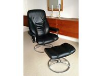 Two Ekornes Stressless Retro Vintage Armchairs In Excellent Condition