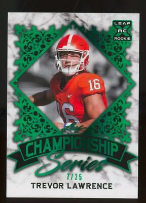 2021 Leaf XRC Championship Series Green Trevor Lawrence 7/25 RC Rookie