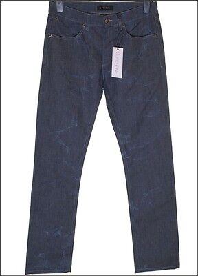 Mens Superfine Kid Straight Stretch Jeans W30 L32 Blue Crush