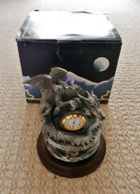 The Keeper of Time by Mark Locker Tudor Mint Myth and Magic Clock Pewter Ornament Millennium