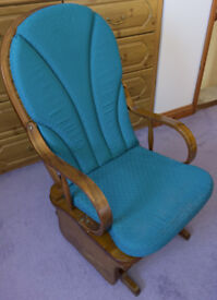 Wooden Rocking Chair with Gliding Mechanism