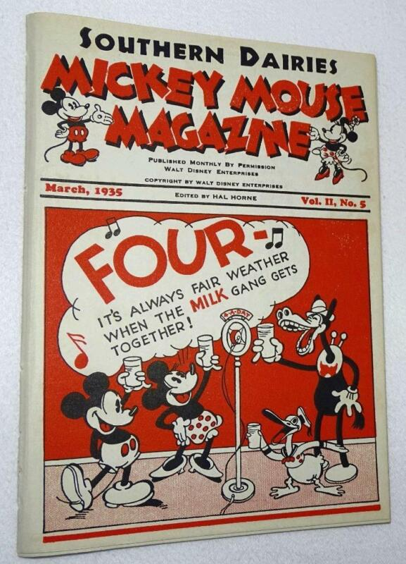 """DISNEY 1935 DAIRY PROMOTIONAL""""MICKEY MOUSE MAGAZINE""""MARCH,VOL.II,NO.5-EX!VF(8.0)"""