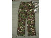 New - British Army - Lightweight DPM Combat Trousers 85/84/100