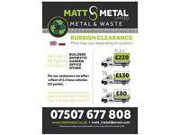 RUBBISH CLEARENCE / SCRAP METAL-Matt Metal Ltd *** All London ***