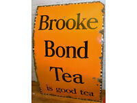 Brooke Bond Tea 1940s advertising enamel sign garage kitchen vintage retro decor pub mancave