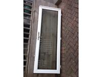 White UPVC/Clear Glass Triple lock Door and Frame