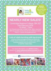 Baby and Childrens Market Nearly New Sale