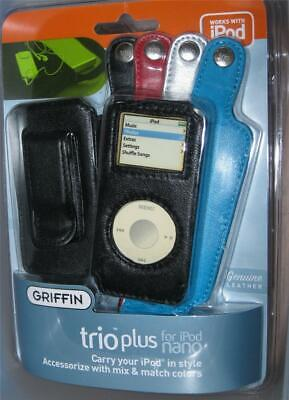 Griffin TRIO PLUS For Apple IPod 3 Nano Cases Cover Protector LEATHER NEW - $6.49