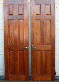 Solid Hardwood Internal Doors. Six panels, solid mahogany
