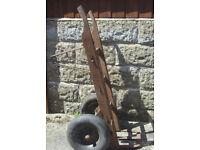 Heavy duty sack trucks - very solid - needs new tyres