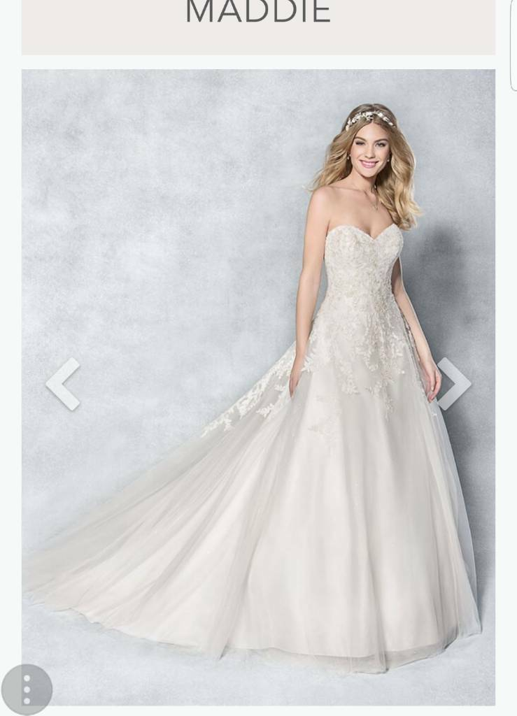 Ivory Blush Wedding Dress And Belt