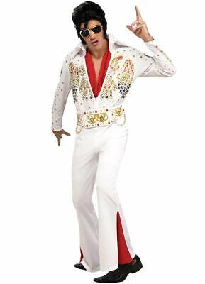 Mens Elvis Costume (Mens Adult ELVIS NOW Deluxe Elvis Presley)