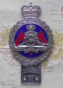Original-Vintage-Car-Mascot-Badge-British-Army-Royal-Artillery-Badge-by-Gaunt
