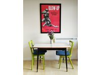 Stylish mid-century retro formica dining table with built-in extension