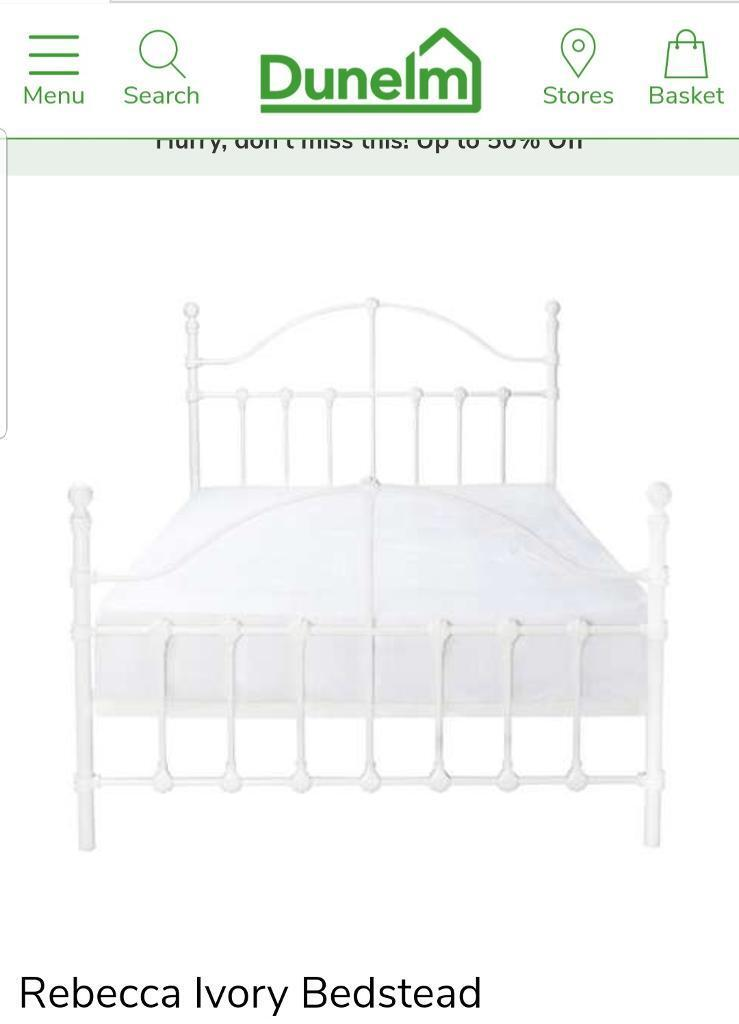 size 40 00d97 06591 Dunelm mill double bed - new in box | in Chatham, Kent | Gumtree
