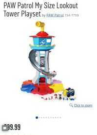Paw patrol look out tower as new!