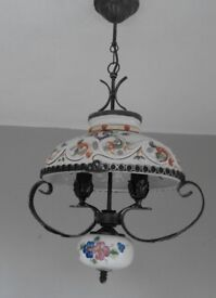 Ceramic kitchen ceiling light.Requires two candle bulbs.Excellent condition. Buyer to collect.
