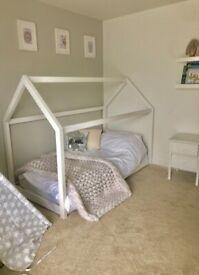 Tree house bed + brand new mattress + Duvet cover set