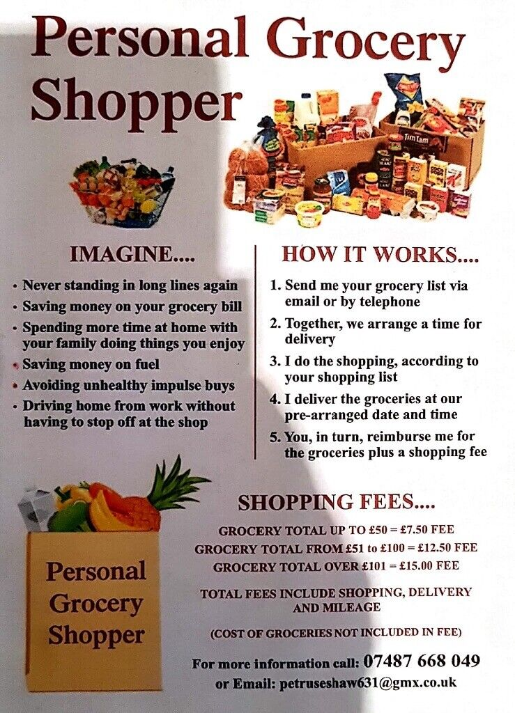 PERSONAL GROCERY SHOPPER | in Angus | Gumtree