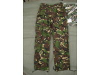 New - British Army - Lightweight DPM Combat Trousers 85/84/100